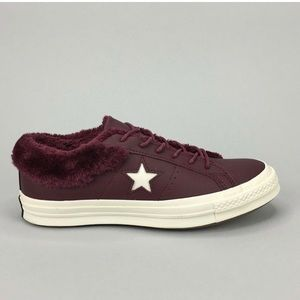 Converse One Star Ox Fur Burgundy